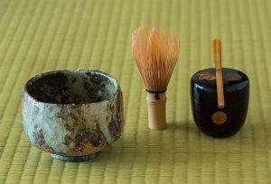 茶碗と茶筅と茶杓